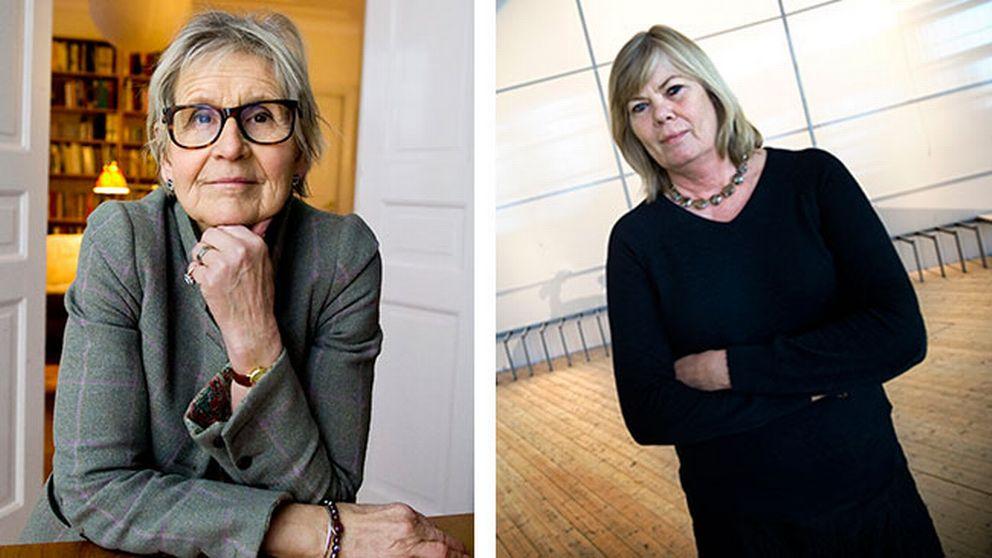 Kertsin Brunnberg (till vänster) tar över som museichef efter Lena Rahoult (till höger).