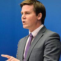 Folkpartiets partisekreterare Nina Larsson och integrationsminister Erik Ullenhag.