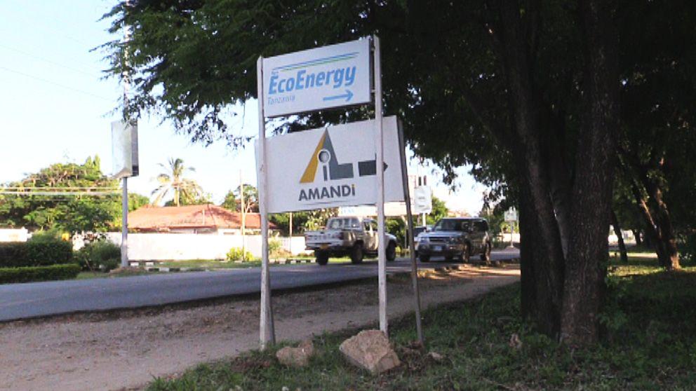 I diplomatkvarteren i Dar-es-Salaam i Tanzania finns företaget EcoEnergy.