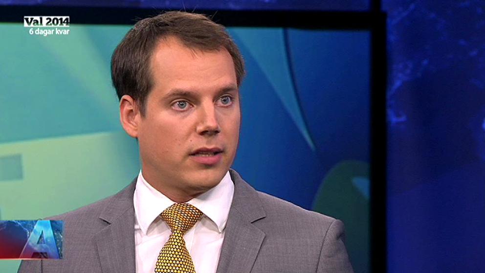 Christoffer Dulny (SD) intervjuas i Aktuellt