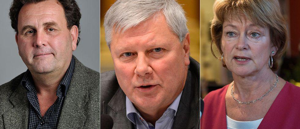 Thoralf Alfsson, riksdagsledamot för Sverigedemokraterna, Lars Ohly riksdagsledamot för Vänsterpartiet, Kuturminister Lena Adelsohn Liljeroth, riksdagsledamot för Moderaterna.