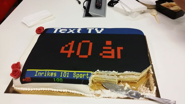text tv 40 år Text tv fyller 40 år | SVT Nyheter text tv 40 år