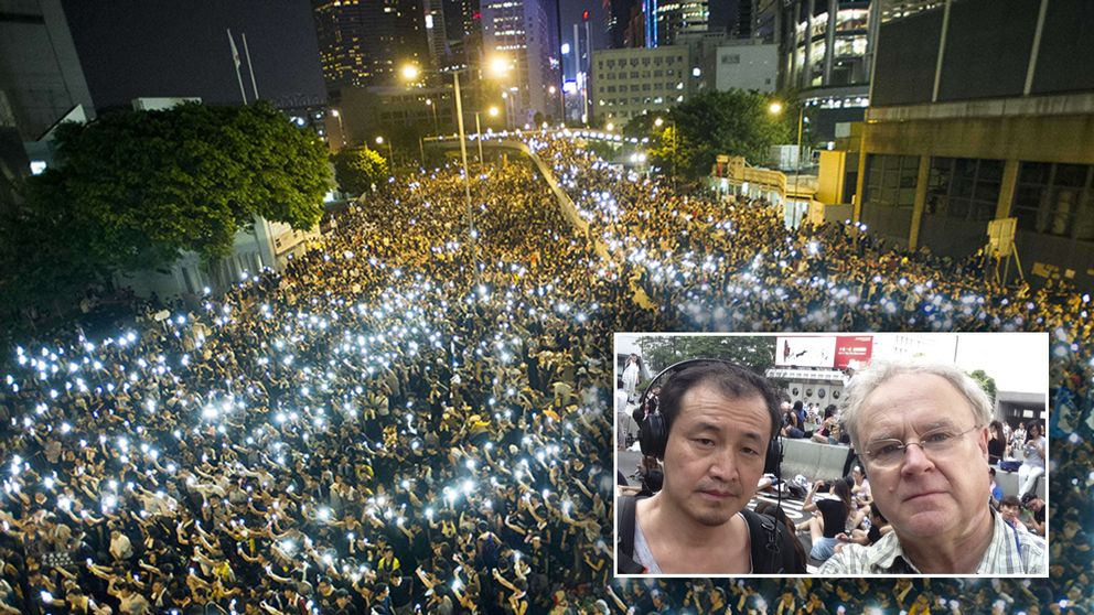 Polisen satte in pepparsprej mot demonstranterna