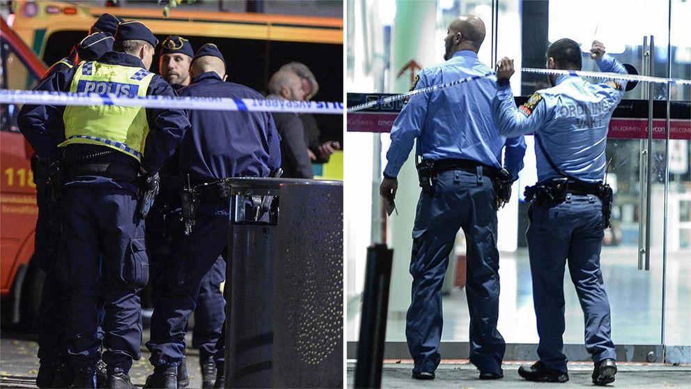 Bombhot mot polisen i nacka