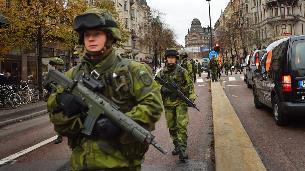 Arkivbild. Livgardet övar beredskap i Stockholm.