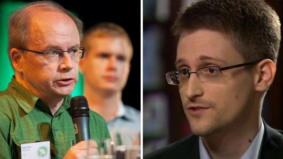 Valter Mutt, Edward Snowden.