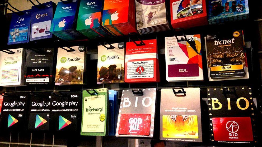 få tillbaka pengar från presentkort