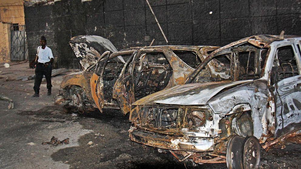 Sjalvmordsdad mot au bas i somalia