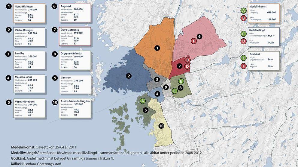 karta stadsdelar göteborg Så ser det ut där du bor | SVT Nyheter karta stadsdelar göteborg