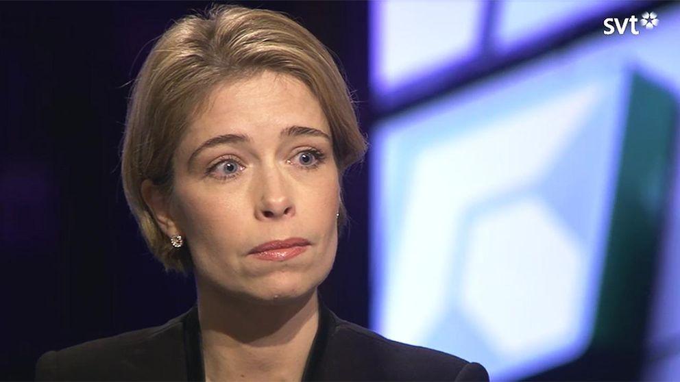 Annika Strandhäll (S), socialförsäkringsminister, i Agenda.