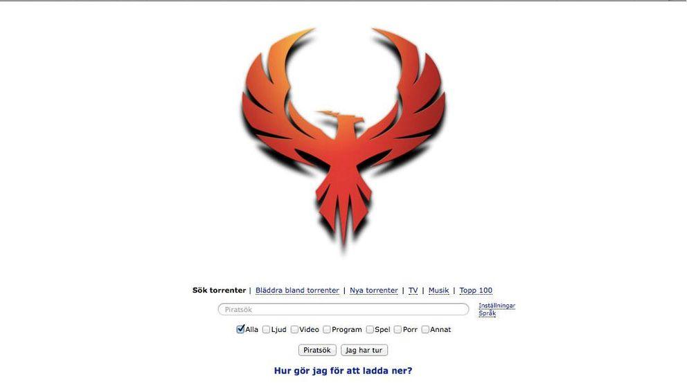 Fågeln Fenix är fildelningssajtens nya logotyp.