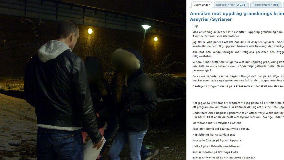 Flera anmälningar har kommit in till granskningsnämnden och över 2.200 personer har skrivit på en namninsamling efter att Uppdrag granskning undersökt hatet mot muslimer i Sverige. Anmälarna menar att de framställ som islamofober.