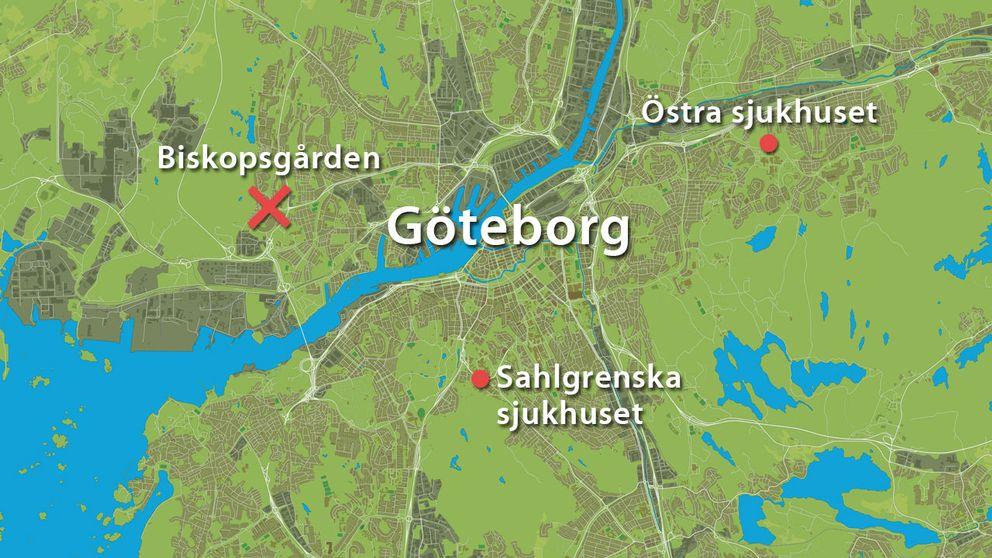 karta över göteborg Karta över skottdramat i Göteb| SVT Nyheter karta över göteborg