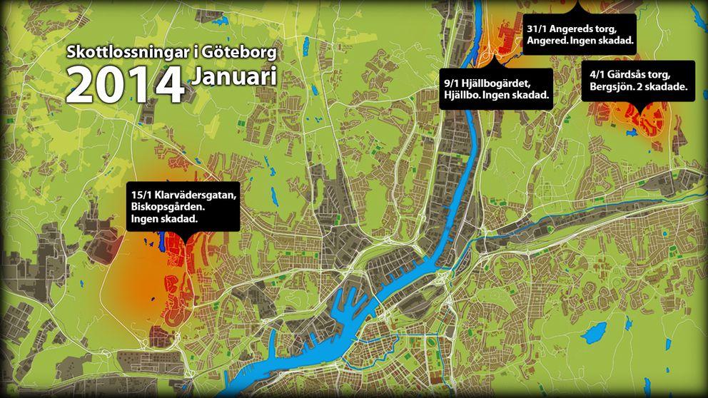 biskopsgården göteborg karta Lista över samtliga skottlossningar i Göteb2014   SVT Nyheter biskopsgården göteborg karta
