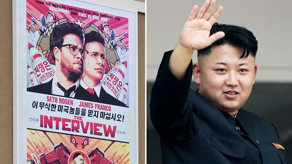 """En affisch för filmen """"The Interview"""" och Nordkoreas ledare Kim Jong-un."""