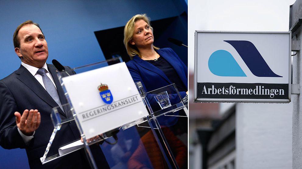 Statstminister Stefan Löfven och finansminister Magdalena Andersson