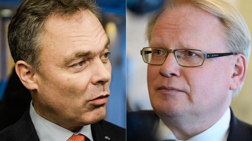 Folkpartiledaren Jan Björklund mötte försvarsminister Peter Hultqvist i Agenda.