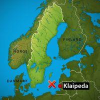 Flygplanet försvann mellan Öland och litauiska Klaipeda.