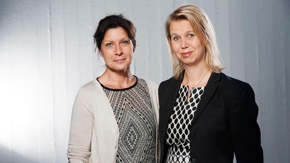 Maria Groop Russel och Anne Lagercrantz.