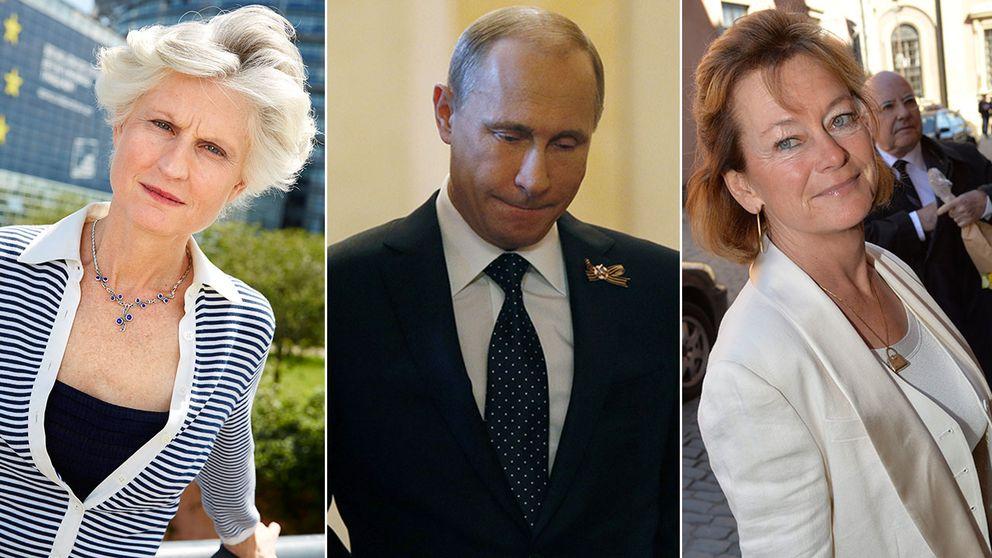 Anna Maria Corazza Bildt och Lena Adelsohn Liljeroth är två av de åtta svenska namn som svartlistats av Ryssland.