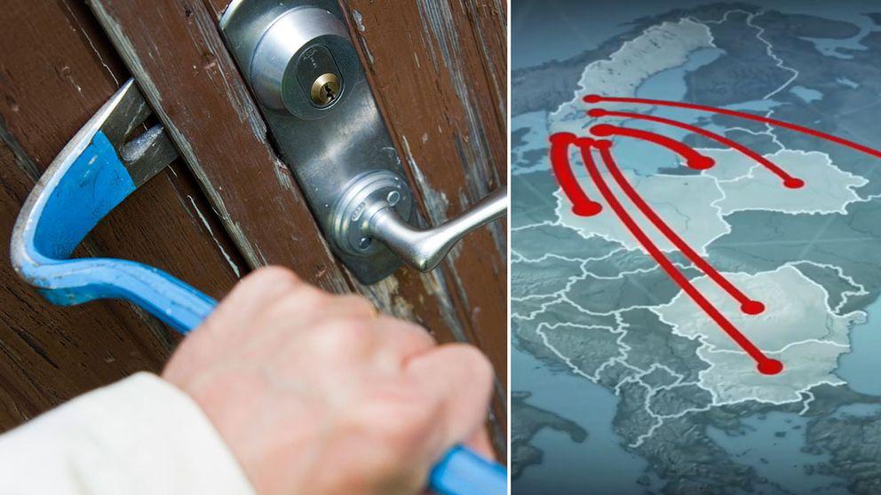 Polisen har kartlagt ett 15-tal internationella kriminella nätverk som begår brott i Sverige.