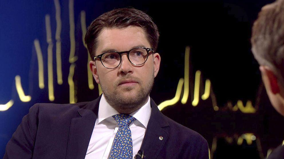 Jimmie Åkesson intervjuades i Skavlan i slutet av mars.