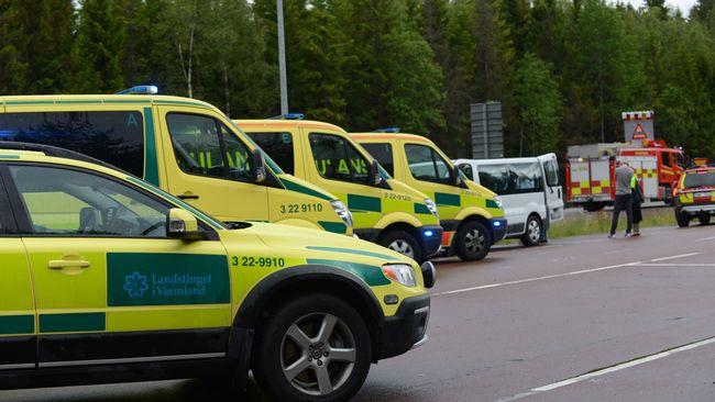 Tiotal olyckor i varmland