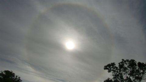 Snygg Halo över Sala den 17 juni