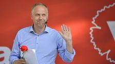 Partiledartal i Almedalen - Jonas Sjöstedt (V) - Teckenspråkstolkat