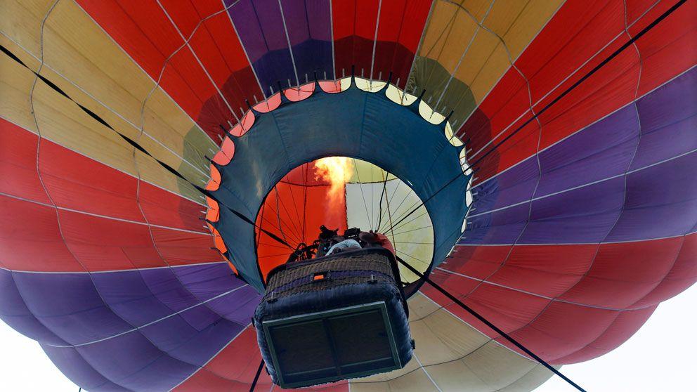 Luftballong underifrån