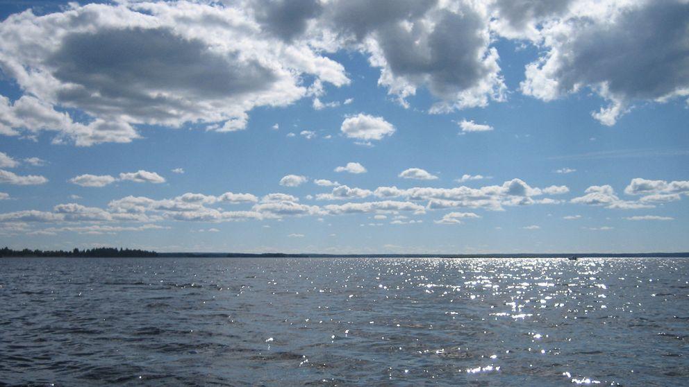 Vackert sommarväder över Storsjön i Jämtland den 15 augusti.