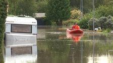 Översvämning i Hallsberg den 6 september.