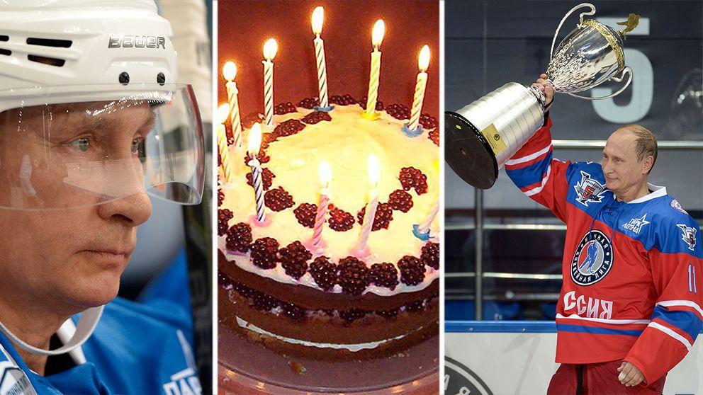 göra på sin födelsedag Putin firade sin födelsedag – med att göra sju mål i ishockeymatch  göra på sin födelsedag