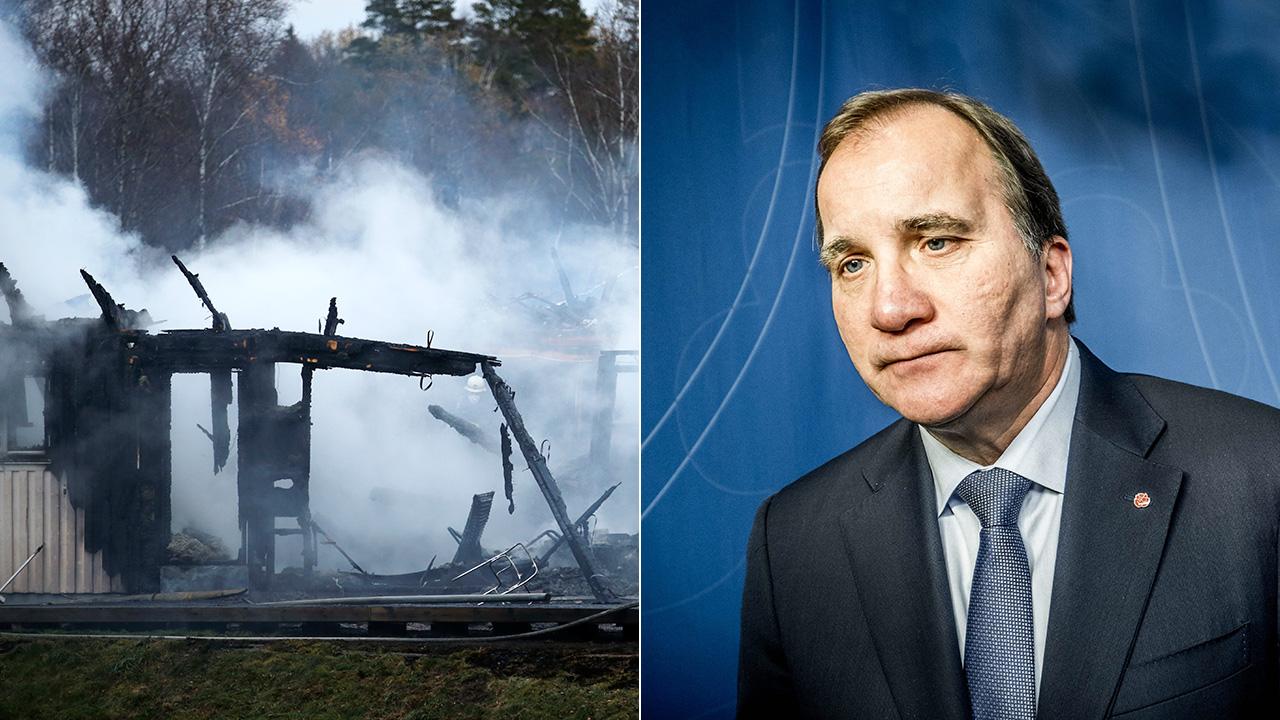 Brand i barack avsedd for flyktingbarn