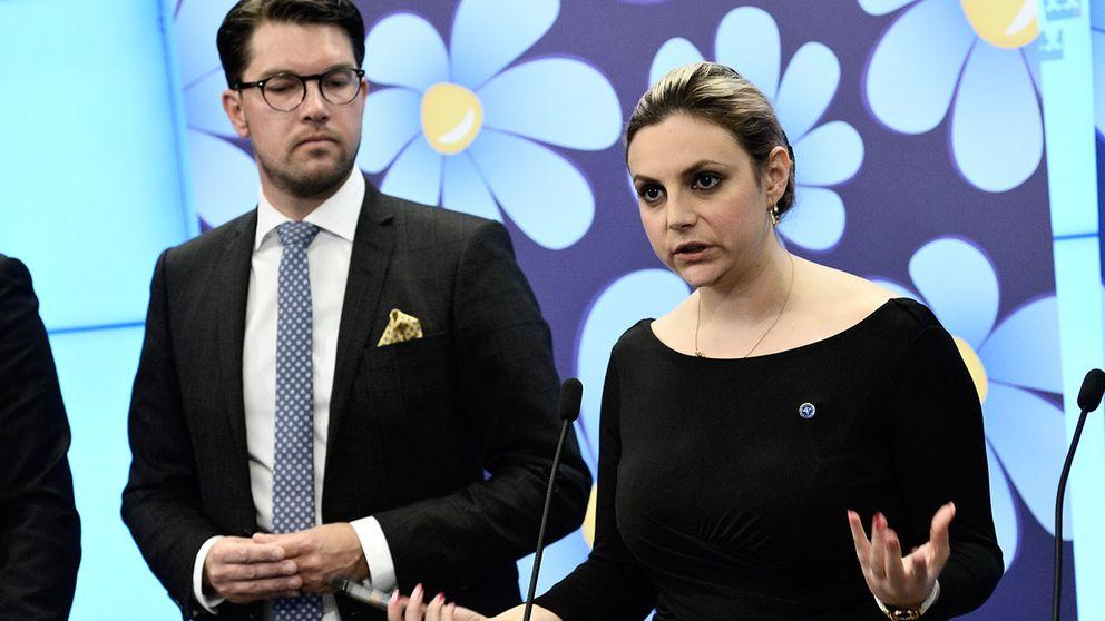 Sverigedemokraternas partiledare Jimmie Åkesson och partiets migrationspolitiska talesperson Paula Bieler sa att det svenska samhället har kollapsat.