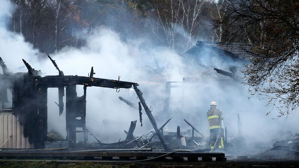 Ett asylboende i Munkedal brann ned förra veckan.
