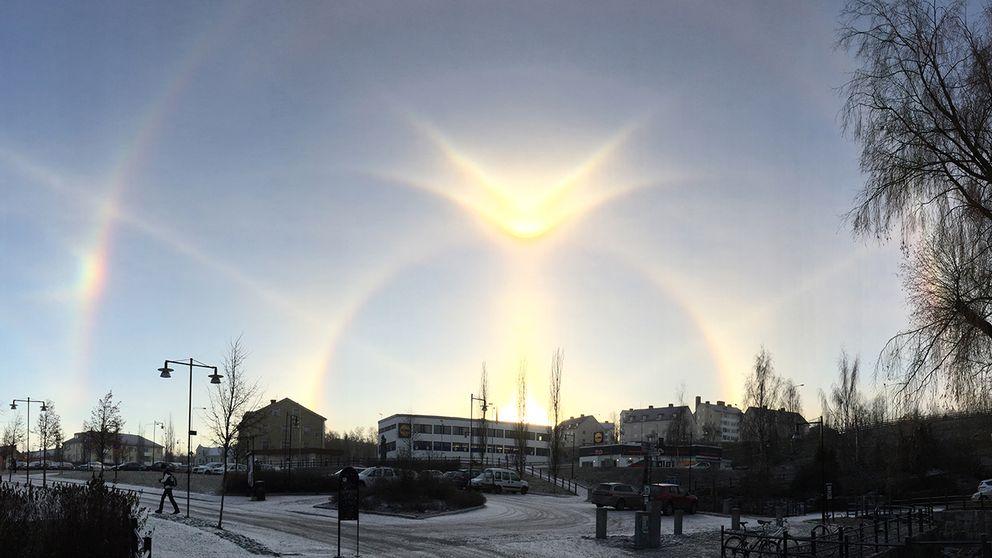 Halo fenomenet i Sollefteå den 23 november.