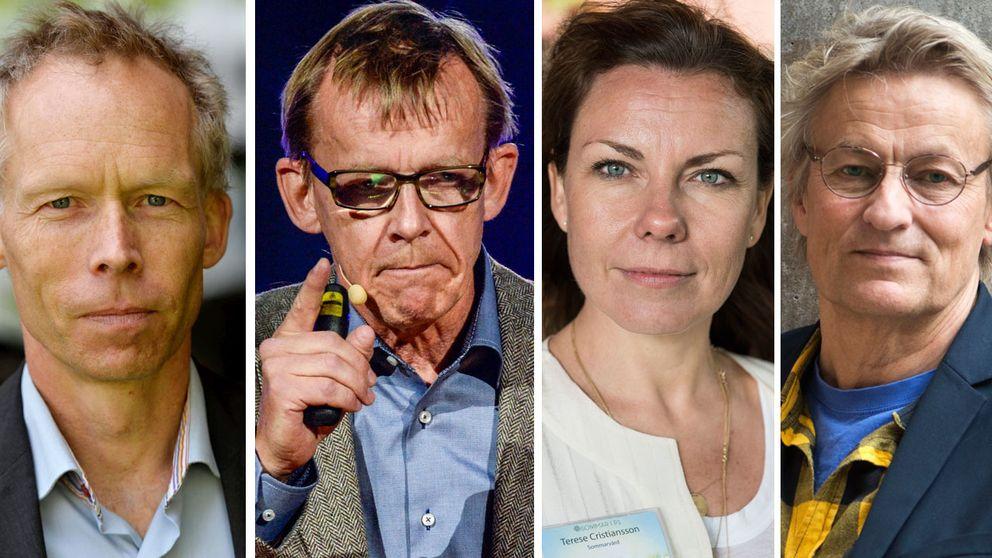 Johan Rockström, Hans Rosling, Terese Cristiansson och Lars Lerin ska vinterprata.