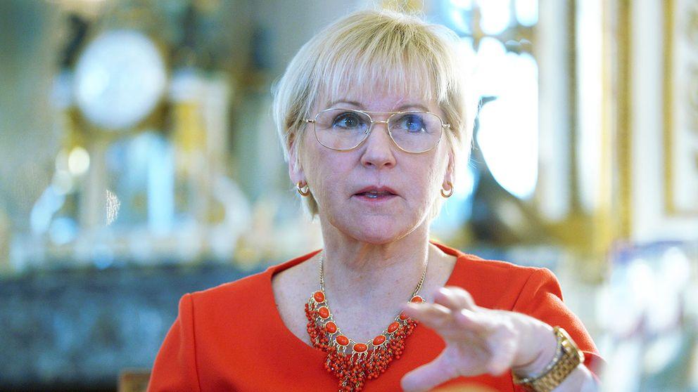 Utrikesminister Margot Wallström anser att kvinnor bidrar med nya perspektiv i fredsprocesser.