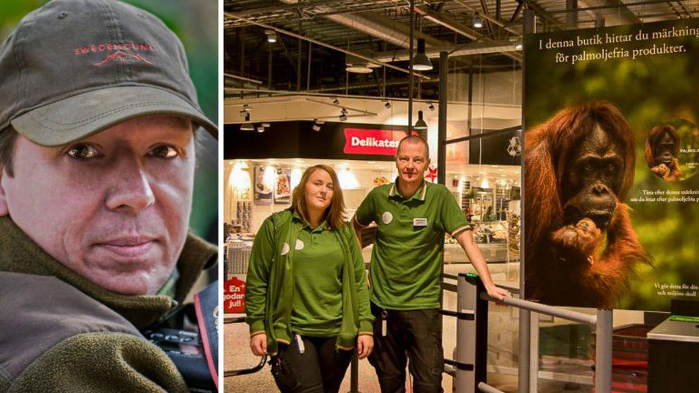 Butiken nappade på Tom Svenssons förslag och har nu gjort en egen märkning för palmoljefria produkter.