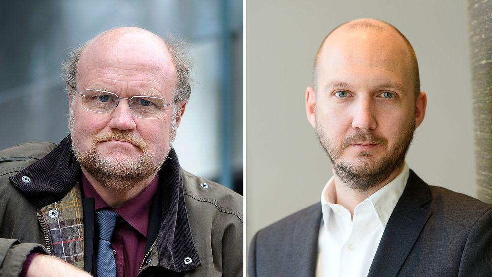PEN:s ordförande Ola Larsmo och Reportrar utan gränsers ordförande Jonathan Lundqvist har stått bakom Roozbeh Janghorban i hans asylprocess.