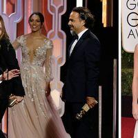 """Till vänster: """"The Revenant"""" regisserad av Alejandro González Iñárritu med Leonardo DiCaprio i huvudrollen blev galans stora vinnare. Till höger: Alicia Vikander blev utan pris."""