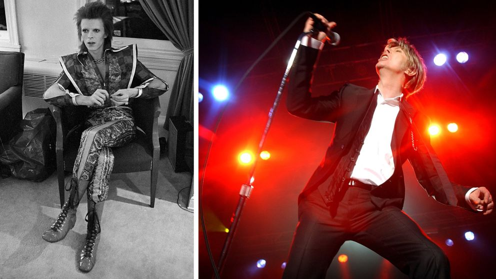 Som Ziggy Sttardust i Philadelphia 1972 och som David Bowie i Norge 2003.