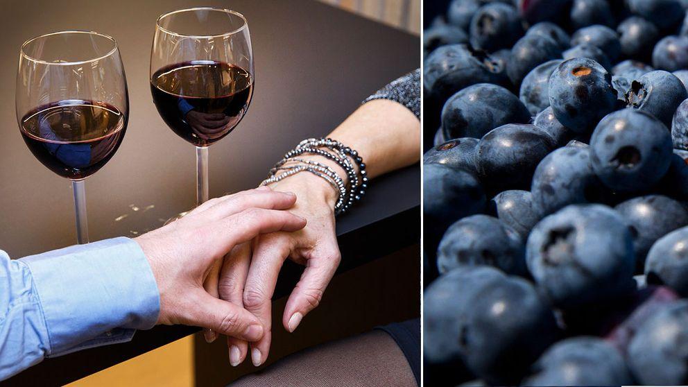 Rödvin och blåbär bra mot erektionsproblem