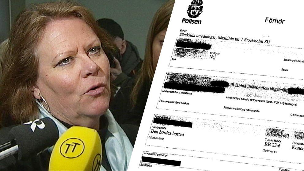 Åklagare Elisabeth Brandt vid särskilda åklagarkammaren lät bli att förhöra en chef vid polisen i region mitt som pekats ut av vittnen i ett barnpornografiärende. Sedan la hon ner förundersökningen.