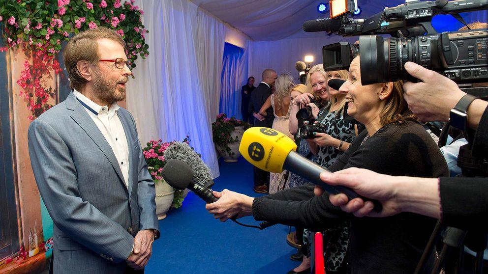 """Björn Ulvaeus vid premiären av """"Mamma Mia the party"""" i Stockholm."""