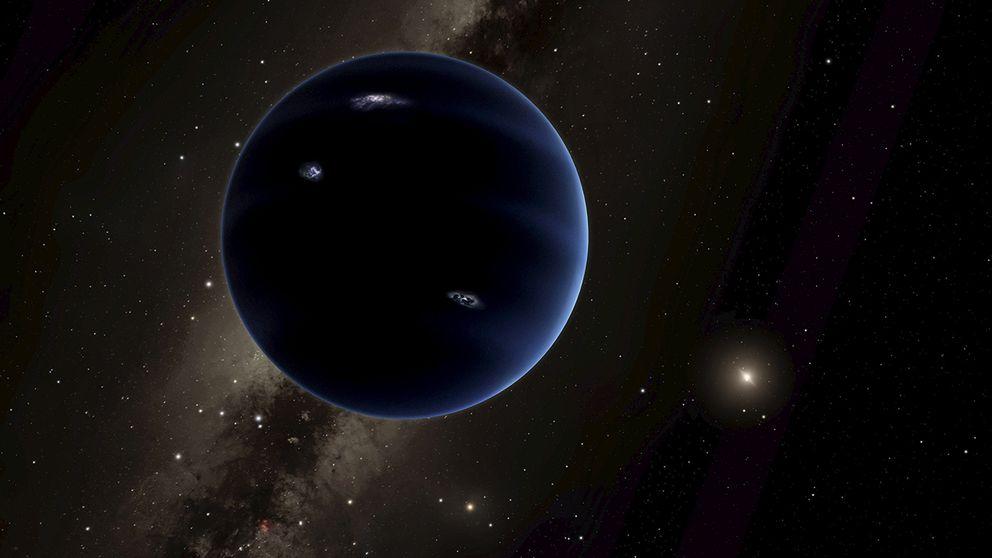 En teckning på hur Planet Nine kan se ut.