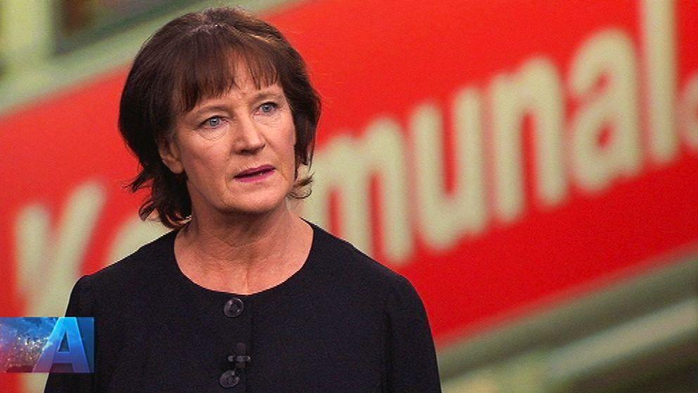 Kommunals ordförande Annelie Nordström i Aktuellt.