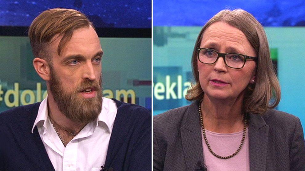 Gustav Martner, grundare på Digital Reliance och Cecilia Tisell, ställföreträdande konsumentombudsman.