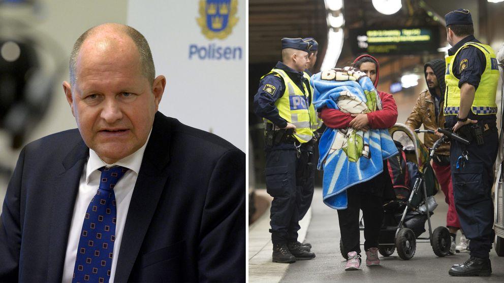 Dan Eliasson och poliser.